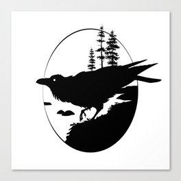Raven Silhouette II Canvas Print