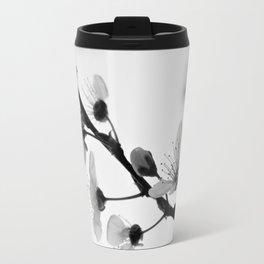 Black And White Blossoms Travel Mug
