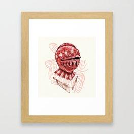 Self-Preservation Knight Framed Art Print