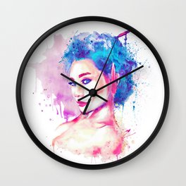 Geisha Girl Wall Clock