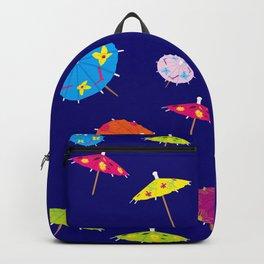 Paper drink umbrellas Backpack