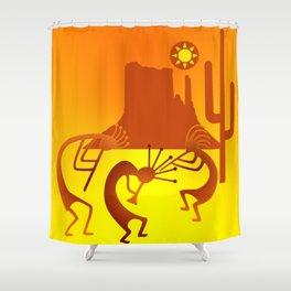 Sunny Day Kokopelli Shower Curtain