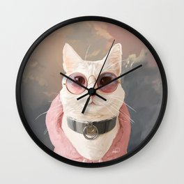 Fashion Portrait Cat Wall Clock
