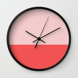 Pink & Tomato Red color story Wall Clock