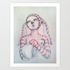 The Bunny rabbit Art Print