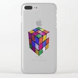 The color cube Clear iPhone Case