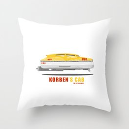 Korben's Cab (from The Fith Element Movie) Throw Pillow