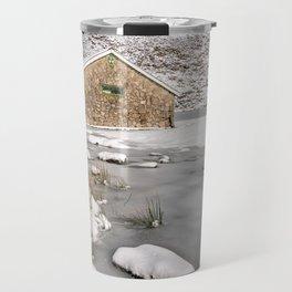Frozen Lake Snowdonia Travel Mug