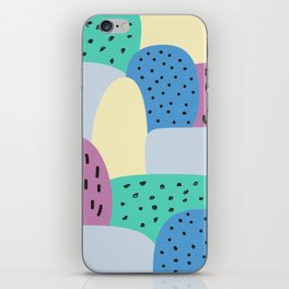 blue rock and roll iPhone Skin