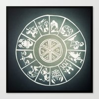 "zodiac Canvas Prints featuring ""Zodiac"" by DiegoC"