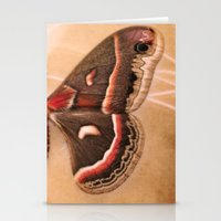 moth Stationery Cards featuring Moth by KunstFabrik_StaticMovement Manu Jobst