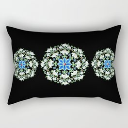 Folkloric Flower Crown Rectangular Pillow
