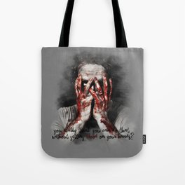 Rick Grimes from The Walking Dead Tote Bag