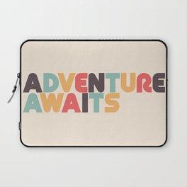 Adventure Awaits - Retro Rainbow Laptop Sleeve