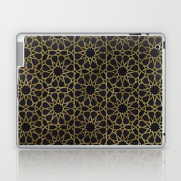 Islamic decorative pattern with golden artistic texture Laptop & iPad Skin