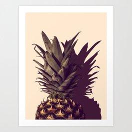 Pineapple and Shadow Art Print