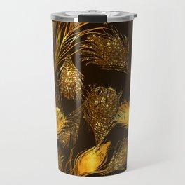 24 Karat Feathers Travel Mug