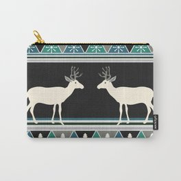Christmas pattern with deer Carry-All Pouch