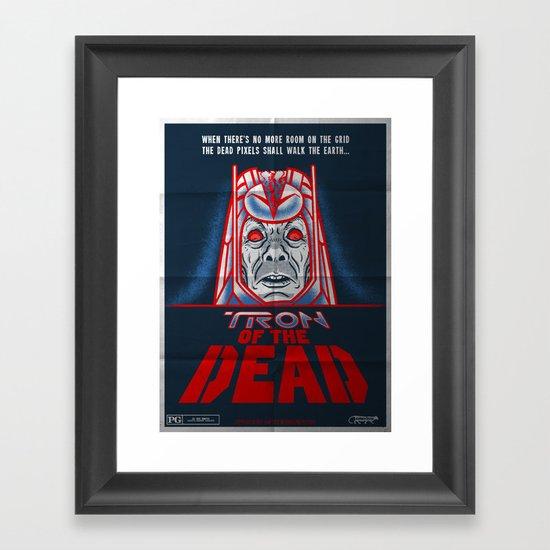 Tron of the dead Framed Art Print