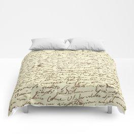 Original Paganini letter Comforters