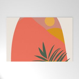 Tropical Landscape Welcome Mat