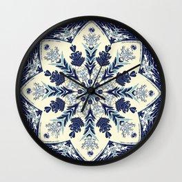Deconstructed Waves Mandala Wall Clock