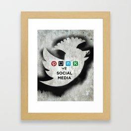 PUNK YOUR SOCIAL MEDIA Framed Art Print