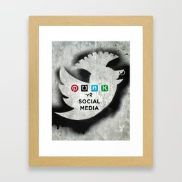 PUNK YOUR SOCIAL MEDIA Framed Art Print