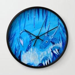 Ice Cavern Dragon Wall Clock