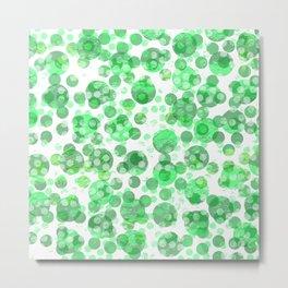 Distressed Green Spots Metal Print