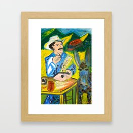 Juan Valdez & Apple Framed Art Print