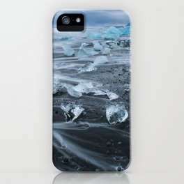 Jokulsarlon Beach - Iceland Print (RR255) iPhone Case