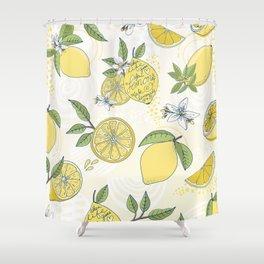 When life gives you Lemons Make Lemonade Shower Curtain
