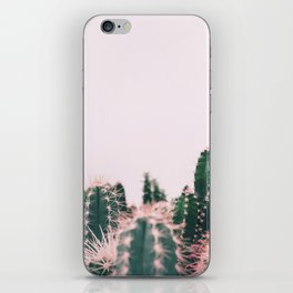 Pink Blush Cactus iPhone Skin