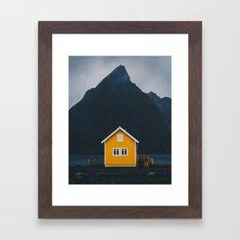 Yellow hut Framed Art Print