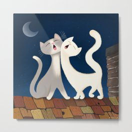 Moonlight Duet Metal Print