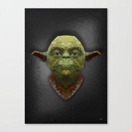 Yoda - Portrait - Low Poly Canvas Print