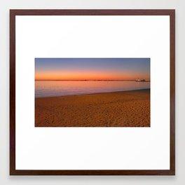 St Kilda Beach at Dusk Framed Art Print