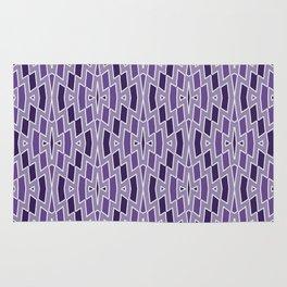 Fragmented Diamond Pattern in Violet Rug