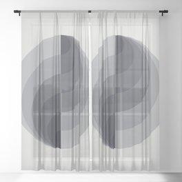 Marble Gray Globe LT Sheer Curtain