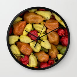 Hot Peppers Wall Clock