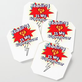 Reading is My Superpower for Book and Literature Fans Coaster