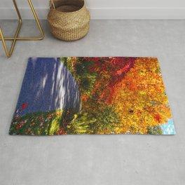 Paved Autumn Path Rug
