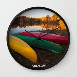 A row of color - Photos Wall Clock