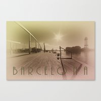 barcelona Canvas Prints featuring Barcelona  by Rob Hawkins Photography