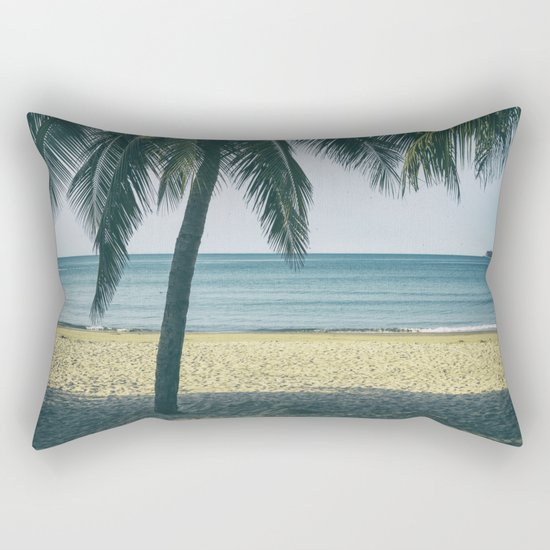 Under the palm tree shadows Rectangular Pillow