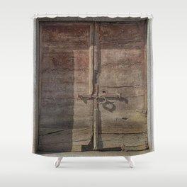 OLD DOOR 01 Shower Curtain