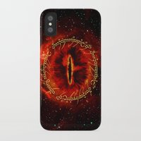 lotr iPhone & iPod Cases featuring Sauron The Dark Lord by neutrone