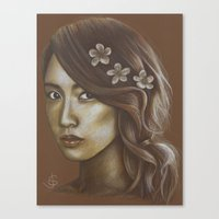 snsd Canvas Prints featuring Sepia Yoona by Jane Stradwick