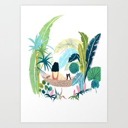 Jungle Hammock Pals Art Print